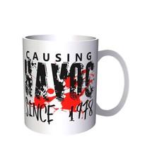 Causing Havoc Since 1978 Funny 11oz Mug jj26 - $10.83