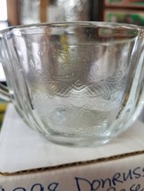 8 PIECE SET INDIANA GLASS TEA CUP AND SAUCER IN BOX  - $12.82