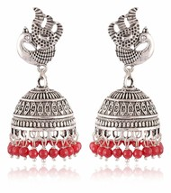 1 Pair Vintage Women's Fashion Silver Plated Indian Girls Dangle Earrings - $5.99