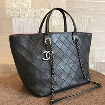 BRAND NEW AUTH CHANEL QUILTED LARGE SHOPPING TOTE BAG SHW  image 3