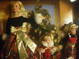 Lot of 2~1998 Pretty in Plaid and Holiday Sisters Barbies~NRFB~ - $48.00