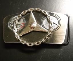 Mercedes Benz Belt Buckle Spinning Chain Link Steering Wheel Gun Metal Gray - $13.99
