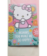 "Greeting Card Mother's  Day Hello Kitty "" Mommy. You make me so happy !"" - $2.50"
