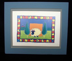 "Watercolor Print Limited Ed.by Helen Daniel, Signed 157/1000,  Matted ""B... - $40.00"