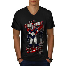 Rise Of Giant Robot Geek Shirt Japan Style Men V-Neck T-shirt - $12.99+