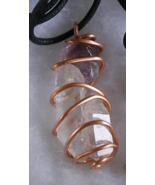 Gemstone Crystal Wire Wrapped One Handcrafted Necklace Custom Made Adjus... - $19.99