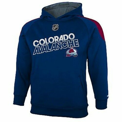 Primary image for REEBOK COLORADO AVALANCHE Performance Hoodie Sweatshirt NWT Youth 8 or 14/16 $48