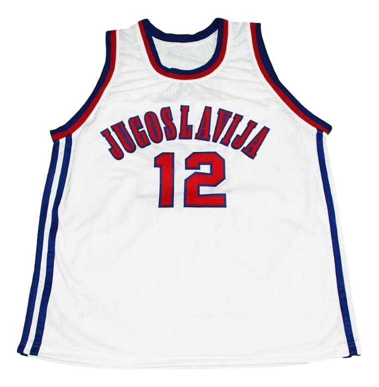 Vlade Divac #12 Jugoslavija Yugoslavia New Men Basketball Jersey White Any Size