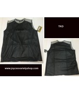 TKO Men's Performance Wear Shirt XL Black & Gray Poly Mesh - $13.99