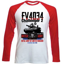 Tank Challenger 2 - New Red Long Sleeves Cotton Tshirt - $26.93