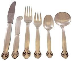 Bittersweet by Georg Jensen Sterling Silver Flatware Set 8 Dinner Service 49 Pcs - $10,295.00