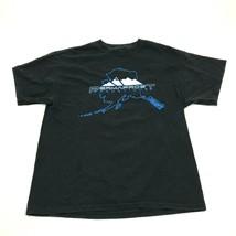 ALASKA Permafrost Shirt Size Large L Adult Black Short Sleeve Tee Double... - $14.27