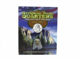 National Park Quarters 4 Panel Cushioned P&D Coin Folder by Whitman - $10.49