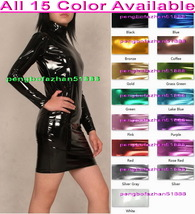 Sexy Women Party Dresses Nightclub Skirt 15 Color Shiny Metallic Women Dress 940 - $36.99