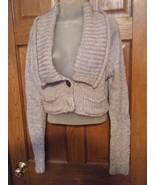 The Limited Silver Gray Lurex Thread Bolero Sweater Jacket  - Size L - $17.83