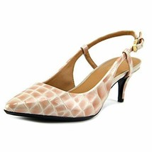 Calvin Klein Patsy Slingback Pointed toe Classic Pumps Croc Clay 7 M - $29.92