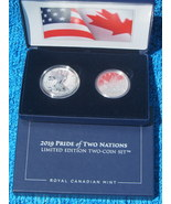 2019 US Mint Pride of Two Nations Silver 2-Coin Set (Box + CoA) - £141.48 GBP