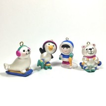 Avon Wee Winter Mini Christmas Ornaments Set of 4-Eskimo Penguin Polar B... - £10.13 GBP