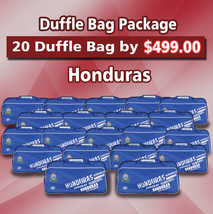 20 Duffle Bag Package Honduras Color Blue by Arza Soccer(Team Bag) - $395.01