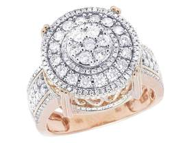 Men's 10K Rose Gold Over D VVS1 3D Round Pinky Statement Wedding Ring 1.... - $175.85