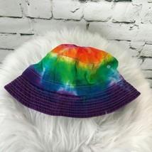 Unisex Kids One Sz Hat Multi Color Tie-Dyed Bucket Fisherman's Khaki - $11.88