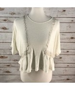 Women's Anthropologie Akami  Kim Bat Wing Short Sleeve sz S - $18.32