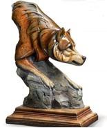Bashful Wolf Imago Sculpture Stephen Herrero Mill Creek Studios for Wild... - $64.30