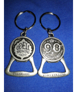 2 ODell Brewing Co 90 Shilling Bottle Openers Key Chains Ft Collins Colo... - $10.00