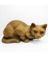 Vintage LEMART ORIGINALS Cat Heavy Doorstop Figurine Hand Painted 1979 NY  - $49.49