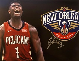 ZION WILLIAMSON AUTOGRAPHED SIGNED 11x14 PHOTO New Orleans PELICANS w/CO... - £68.75 GBP