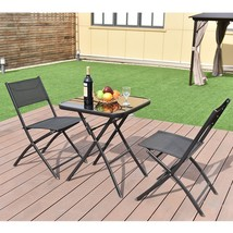 Outdoor Dining Bistro Set Patio Garden Balcony Poolside Folding Furnitur... - $79.99