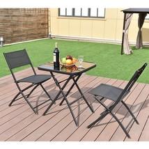 Outdoor Dining Bistro Set Patio Garden Balcony Poolside Folding Furnitur... - $79.99