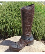 IXOS Tall Pleated Toe Riding Boot Made in Italy Steampunk 37 6.5 - 7 US - $48.15