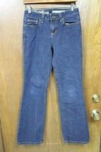 W9736 Womens DKNY JEANS Dark Wash Blue SOHO BOOT CUT JEANS sz 2 Short 2P - $14.50