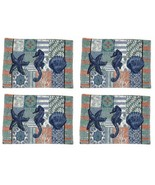 Starfish Sea Horse Shell Placemats 13x18 Set of 4 Tapestry Beach Summer ... - $29.69