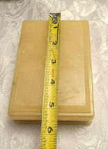 Vintage Himark Giftware Hinged Floral Design Genuine Alabaster Trinket Box Italy image 6
