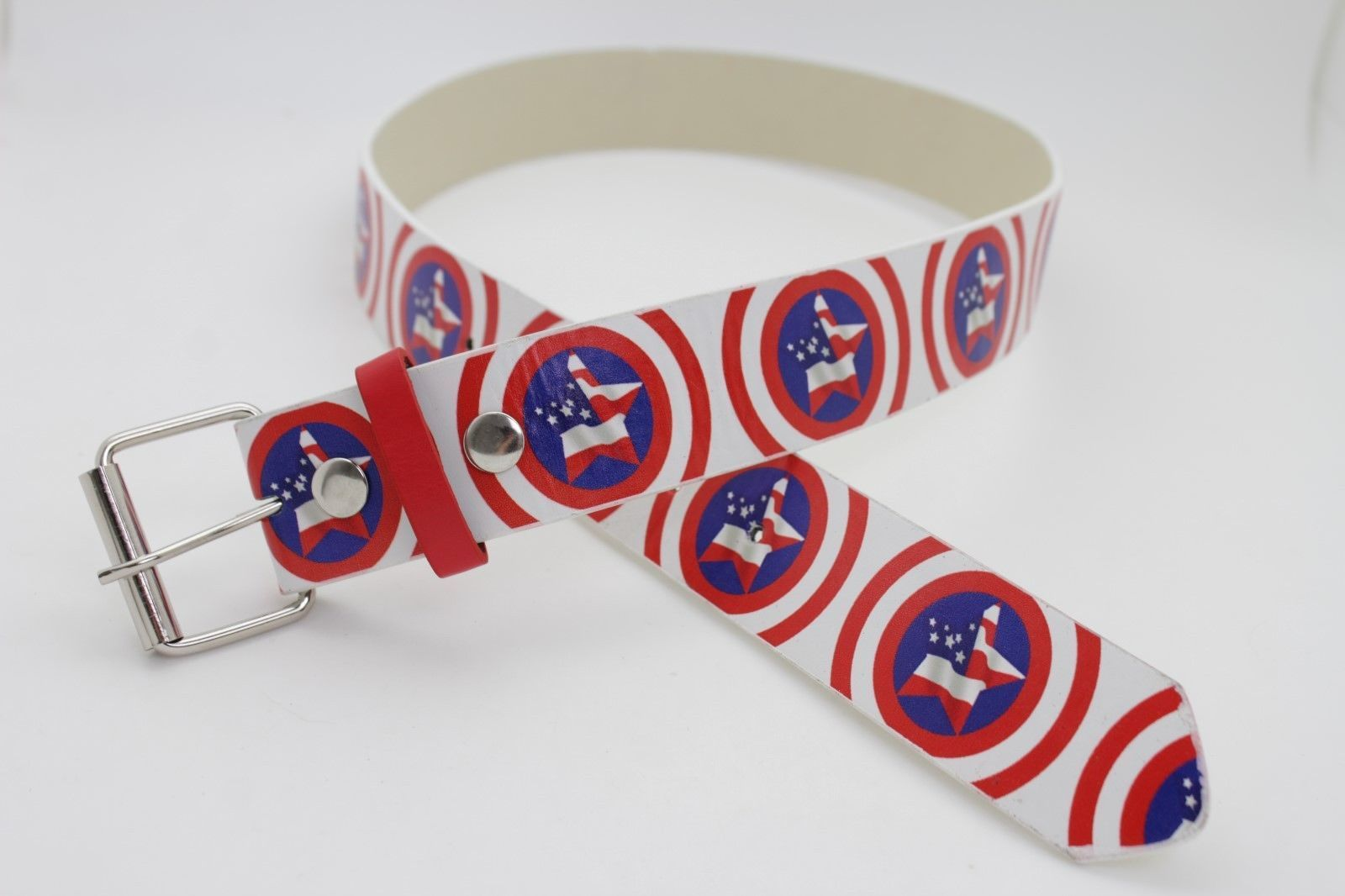 New Women Men 4th July USA Flag American Texas Lone Star Fashion Classic Belt XL