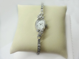 Ladies Hamilton 14k White Gold Diamond L&W Wristwatch - $997.50