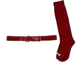 Rawlings BELTSOCKS-RED Baseball Belt & Sock Combo (Youth Small/Red) - $11.64