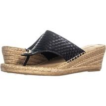 White Mountain Beachball Wedge Espadrille Sandals 356, black, 10 US - $30.71