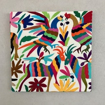 Beautiful frame, upholstered with multicoloured Otomi fabric. 50 x 50 cm... - $59.00