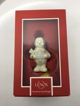 "Lenox 2015 Snowman Snowflake Surprise 4"" Christmas Ornament NIP $40 - $34.64"