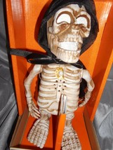 DANCING & SINGING SKELETON  W/ CAPE NIB - $19.50