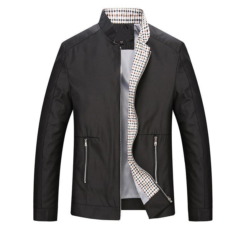 New 2018 leisure business men jacket zipper coat