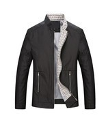 Leisure business men jacket zipper coat - €47,76 EUR
