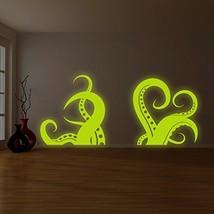 "( 87"" x 38"" ) Glowing Vinyl Wall Bath Decal Amazing Octopus Tentacle / Glow in D - $220.08"