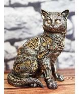Ebros Gift Steampunk Feline Cyborg Cat with Painted Clockwork Gears Nuts... - €27,80 EUR