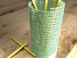 Pens & Pencils Holder Desk Supplies Tower of Pi was made by 3d printer - €89,50 EUR