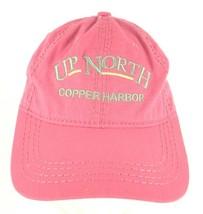 Up North Copper Harbor Michigan Snapback Cap Hat Pink  - $14.84