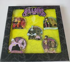 Disney Parks 2020 Halloween Villains Box Set 5 Pin Set Limited Edition 1... - $123.70